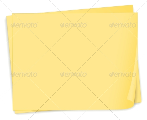 GraphicRiver An Empty Yellow Paper Template 7934646
