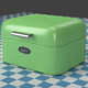 A small green Breadbox