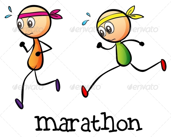 GraphicRiver Marathon Between Two Stickmen 7934733