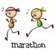 Marathon Between Two Stickmen - GraphicRiver Item for Sale