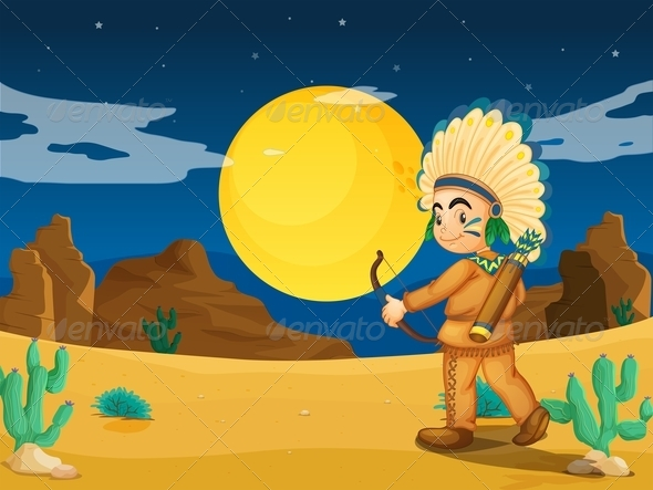 GraphicRiver An Indian at the Desert 7934983