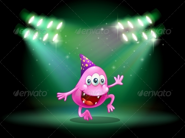 GraphicRiver Monster Dancing in the Middle of the Stage 7935009