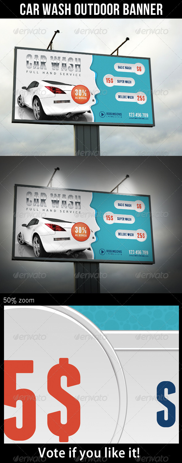 GraphicRiver Car Wash Outdoor Banner 7935045