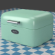 A small mint Breadbox