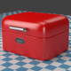 A small red Breadbox