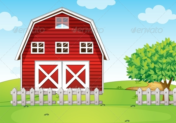 GraphicRiver A Barnhouse at the Hilltop 7935213