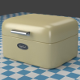 A small oldwhite Breadbox