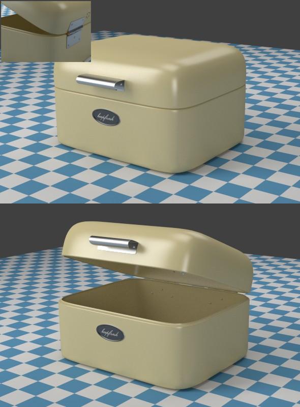 3DOcean A small oldwhite Breadbox 7935305