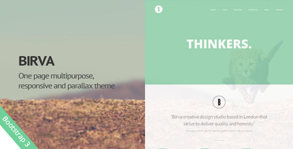 ThemeForest Birva Creative One Page Template 7910277