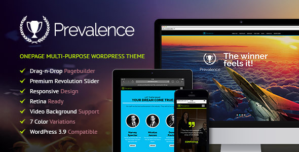 ThemeForest Prevalence Onepage Multi-Purpose WP Theme 7857828