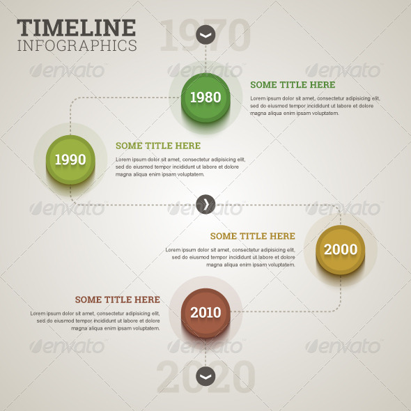 GraphicRiver Timeline Infographic Template in Flat Retro Style 7935500