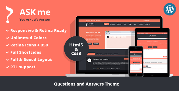 ThemeForest Ask Me Responsive Questions & Answers WordPress 7935874