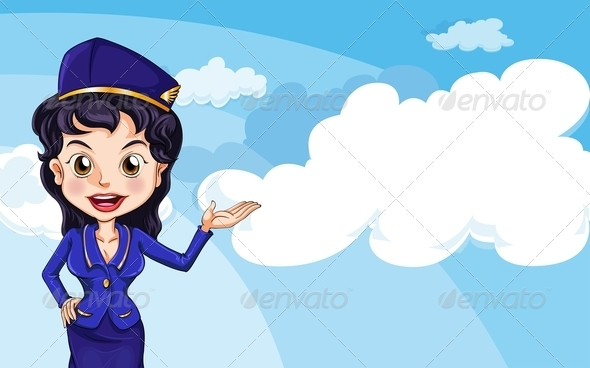 GraphicRiver An Air Hostess in the Sky 7936432