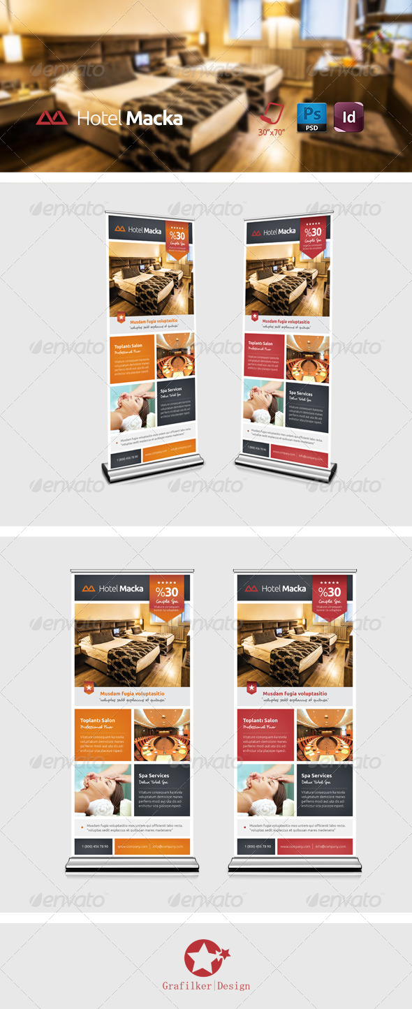 GraphicRiver Hotel Roll-up Templates 7936435