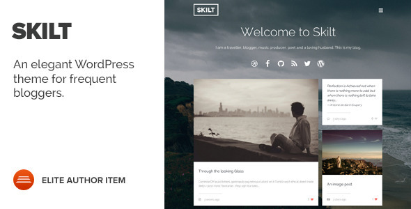 ThemeForest Skilt A WordPress theme for Frequent Bloggers 7936499