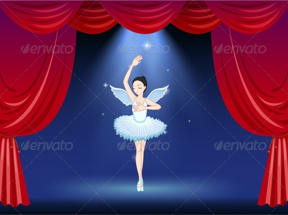 GraphicRiver Ballet Dancer in the Middle of the Stage 7936520