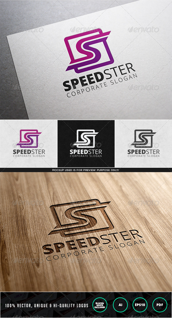 Speedster Logo Template - Letters Logo Templates
