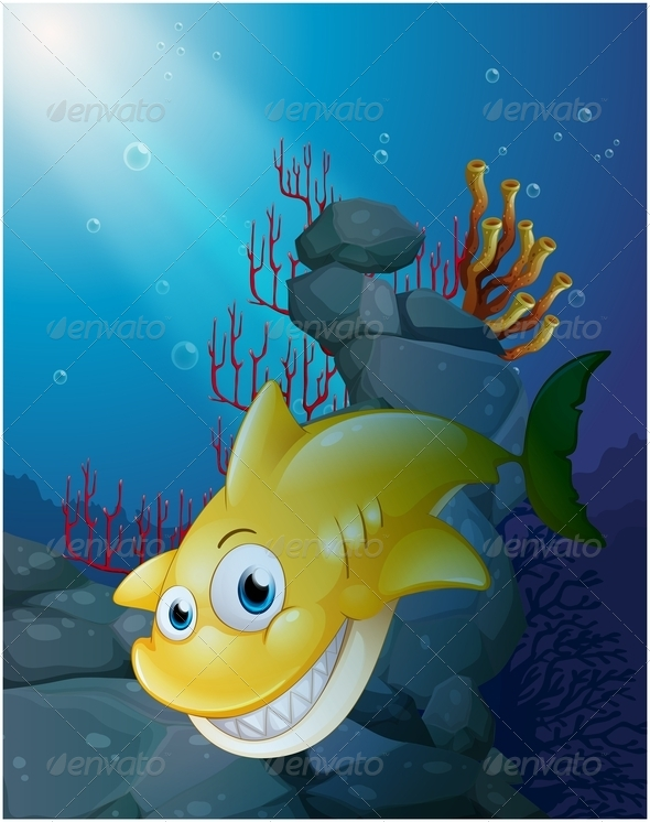 GraphicRiver Smiling Shark Under the Sea 7937038