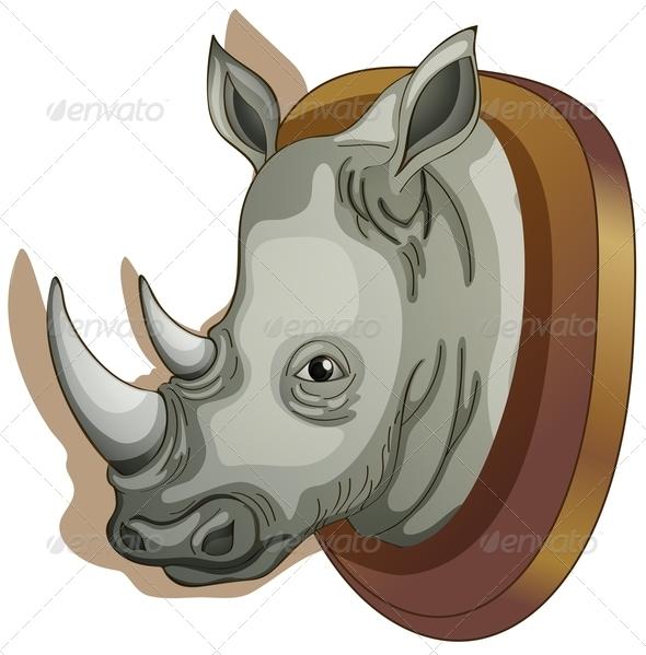 GraphicRiver Mounted Rhino Head 7937173