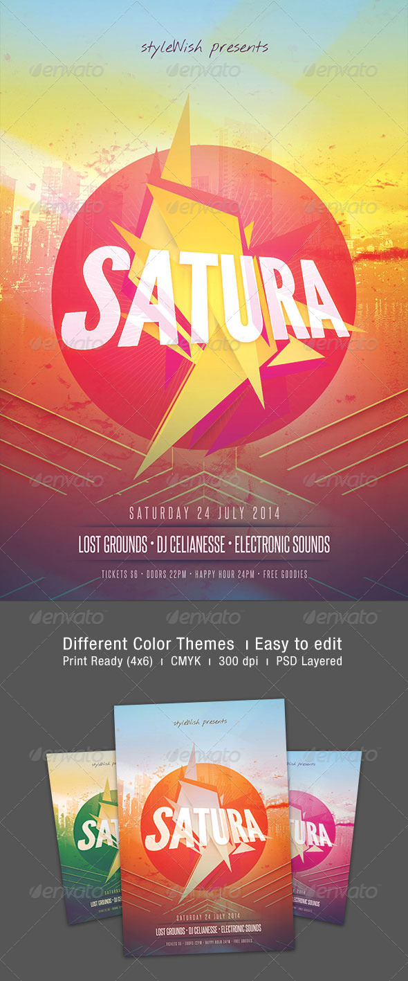 Satura Flyer - Clubs & Parties Events