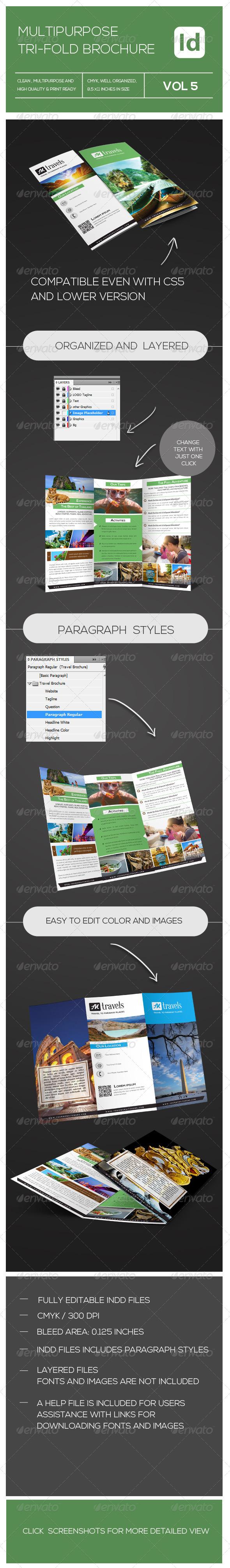 GraphicRiver Tri-fold Travel Brochure 7516237