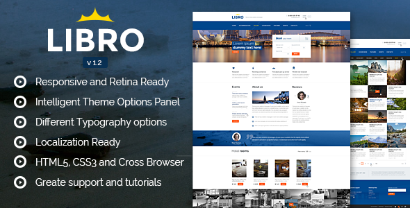 Libro Responsive WordPress Theme - Travel Retail