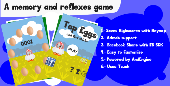 CodeCanyon Tap Eggs Memory Game with Admob 7839668