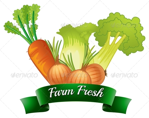 GraphicRiver Farm Fresh Label with Vegetables 7937522