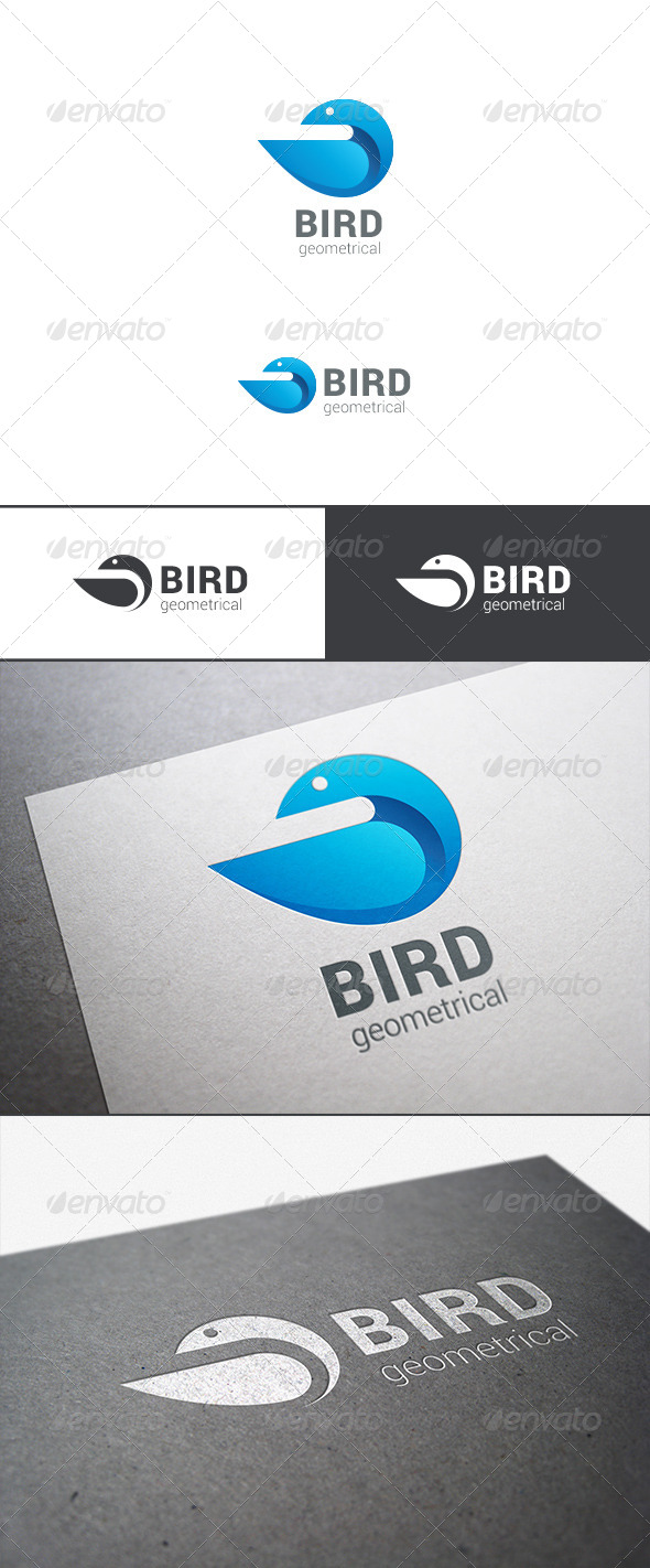 Logo Bird Abstract Geometrical