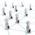 3d small people - business network - PhotoDune Item for Sale