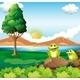 Two Frogs Near River - GraphicRiver Item for Sale