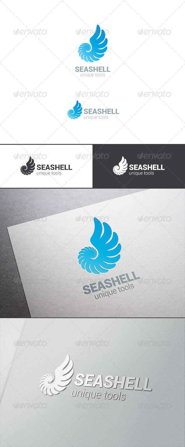 GraphicRiver Logo Sea Shell Silhouette Abstract 7937543