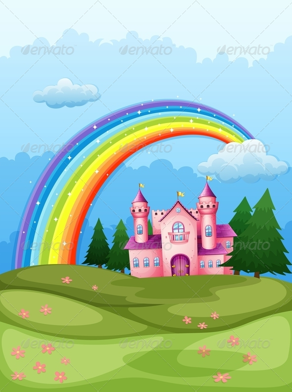 GraphicRiver Castle with Rainbow 7937558