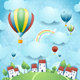 Fantasy Landscape with Hot Air Balloons - GraphicRiver Item for Sale
