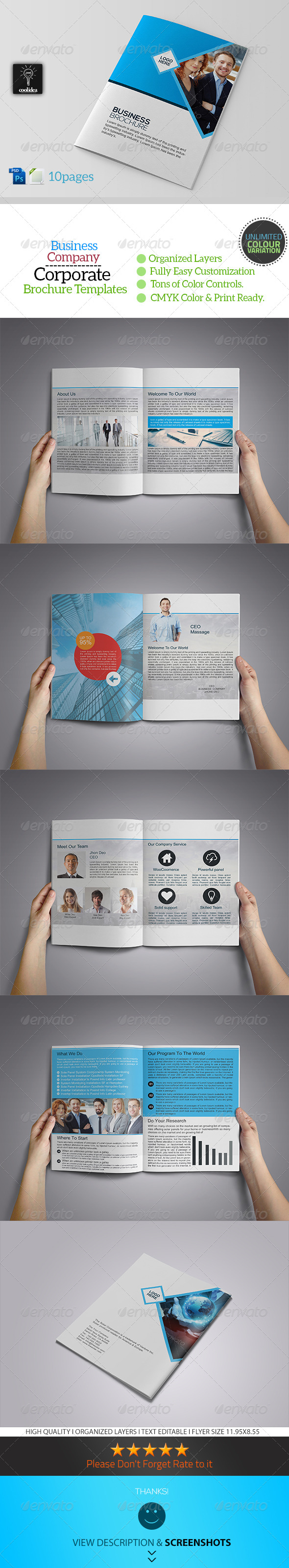 GraphicRiver Business Company 10 Pages Business Brochure 7937644