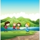 Four Kids Skipping Rope - GraphicRiver Item for Sale
