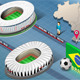 Isometric Stadium of Salvador and Porto Alegre - GraphicRiver Item for Sale