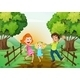 Happy Family on the Path - GraphicRiver Item for Sale