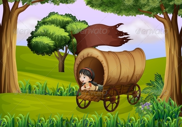 GraphicRiver A Girl Inside the Wagon 7937834