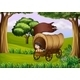 A Girl Inside the Wagon - GraphicRiver Item for Sale