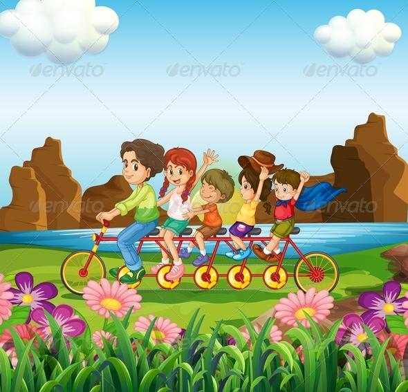 GraphicRiver A Family Bike 7937835