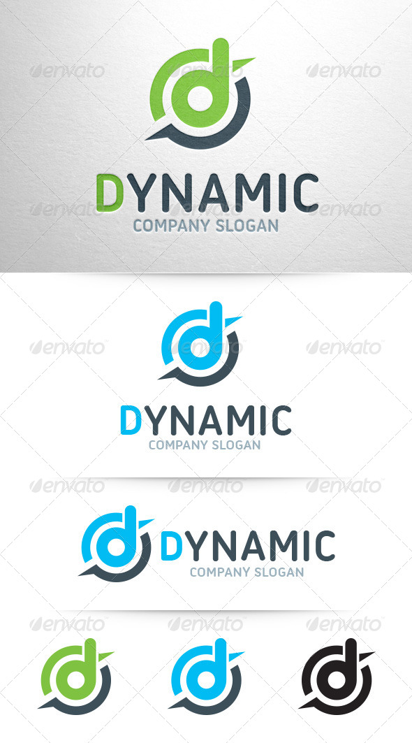 GraphicRiver Dynamic Letter D Logo 7938169