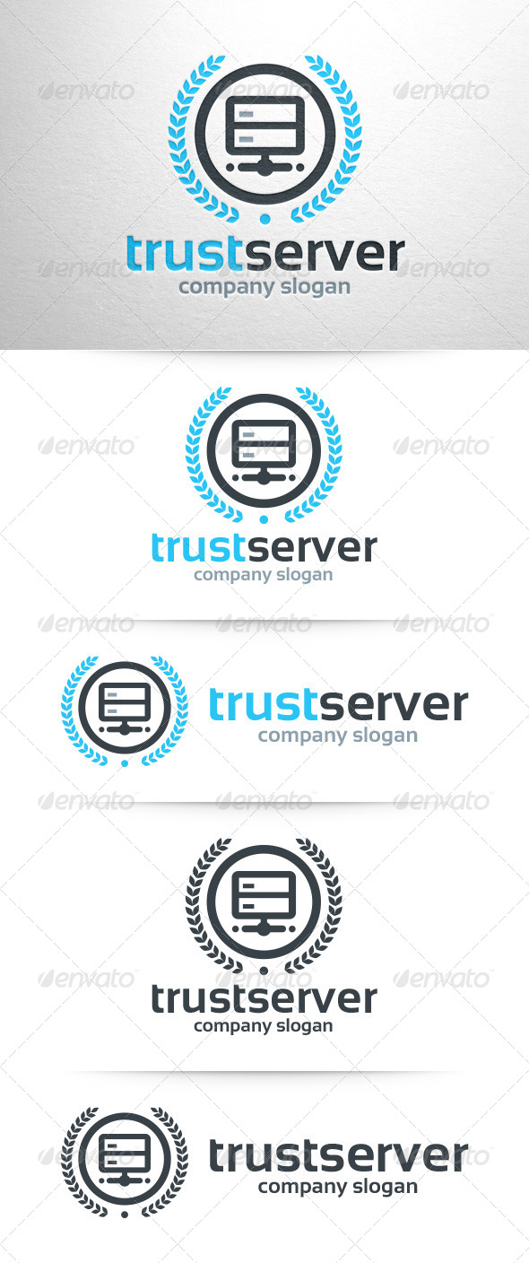 GraphicRiver Trust Server Logo Template 7938370