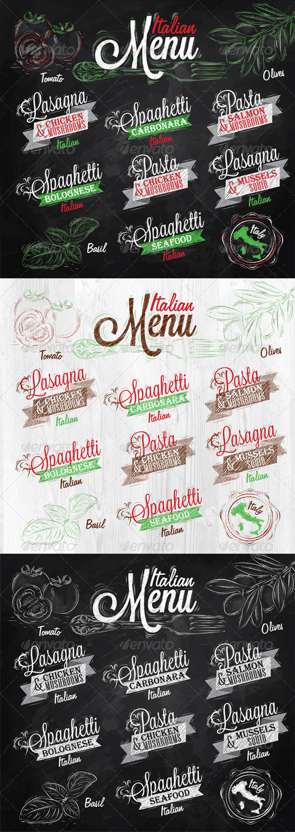 GraphicRiver Menu Italian 7938384