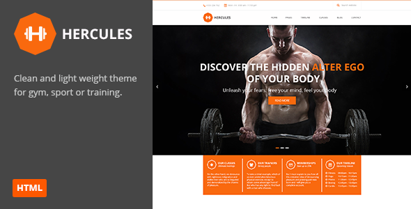Hercules | Gym Fitness HTML Theme