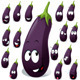 Eggplant with Many Expression - GraphicRiver Item for Sale