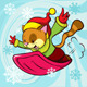 Cat Cartoon Bobsledding - GraphicRiver Item for Sale