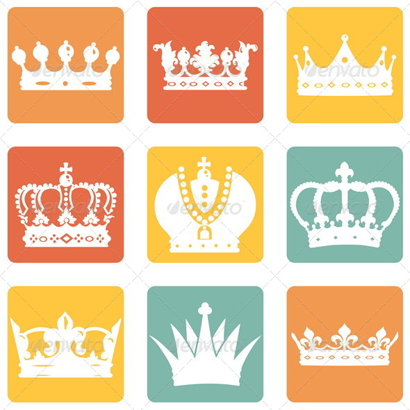GraphicRiver Set of Royal Crown Icons 7933424
