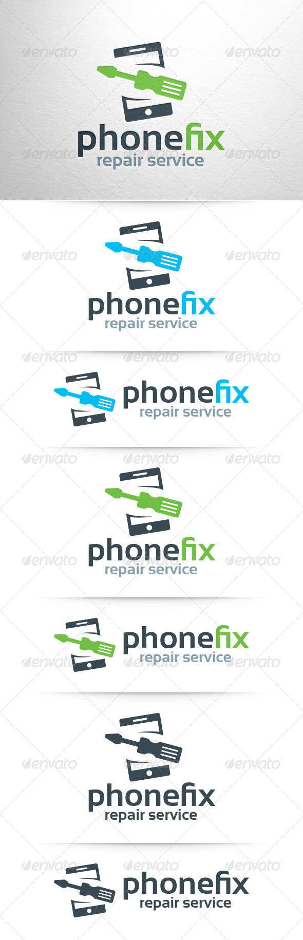 Phone Fix Logo Template