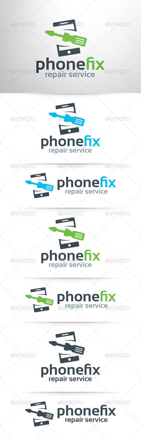 GraphicRiver Phone Fix Logo Template 7938972